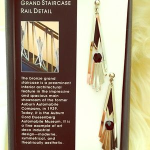 Grand staircase artistic earings.